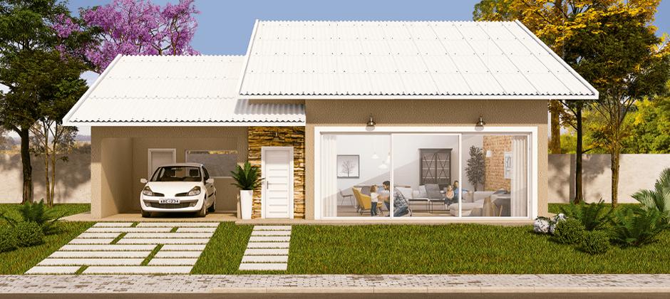 Telha Térmica de Fibrocimento Brasilit Topcomfort 2,13x1,10mx6mm  - Casa Mattos
