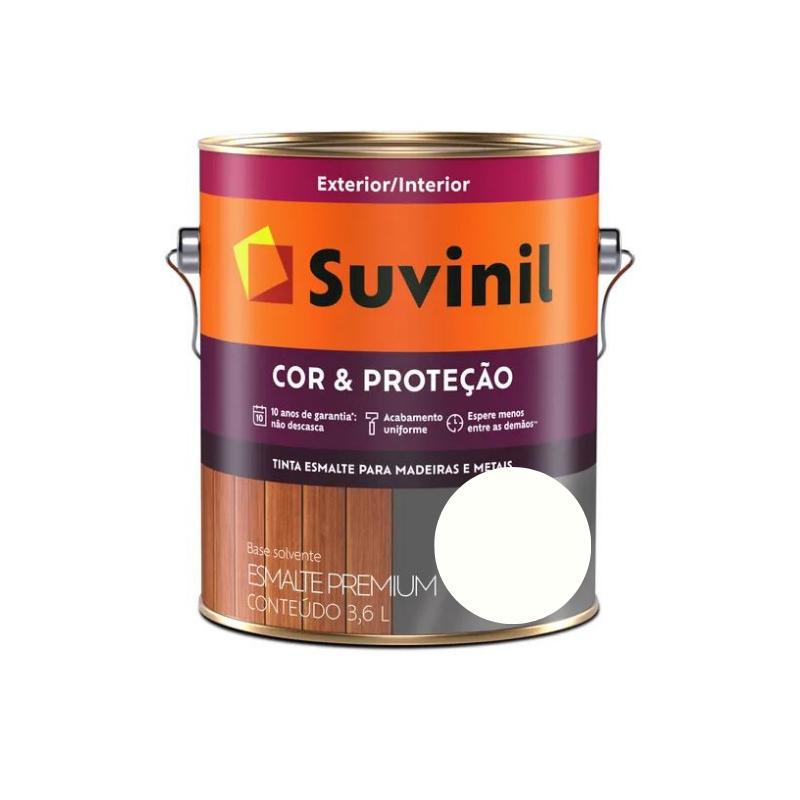 Tinta Suvinil Esmalte Cor & Proteção Acetinado Branco Neve Galão 3,6L