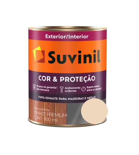Tinta Esmalte Suvinil Cor & Proteção Acetinado Areia Claro 900ml