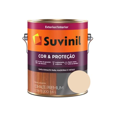Tinta Esmalte Suvinil Cor & Proteção Acetinado Areia Claro Galão 3,6L