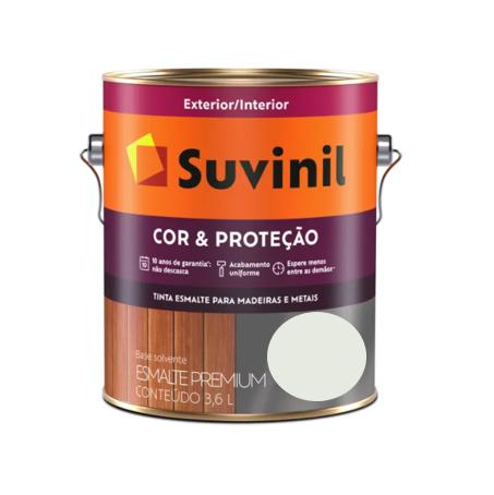Tinta Esmalte Suvinil Cor & Proteção Acetinado Gelo Galão 3,6L