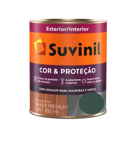 Tinta Esmalte Suvinil Cor & Proteção Acetinado Verde Colonial Litro 900ml