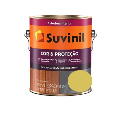 Tinta Esmalte Suvinil Cor & Proteção Brilhante Amarelo Ouro Galão 3,2L