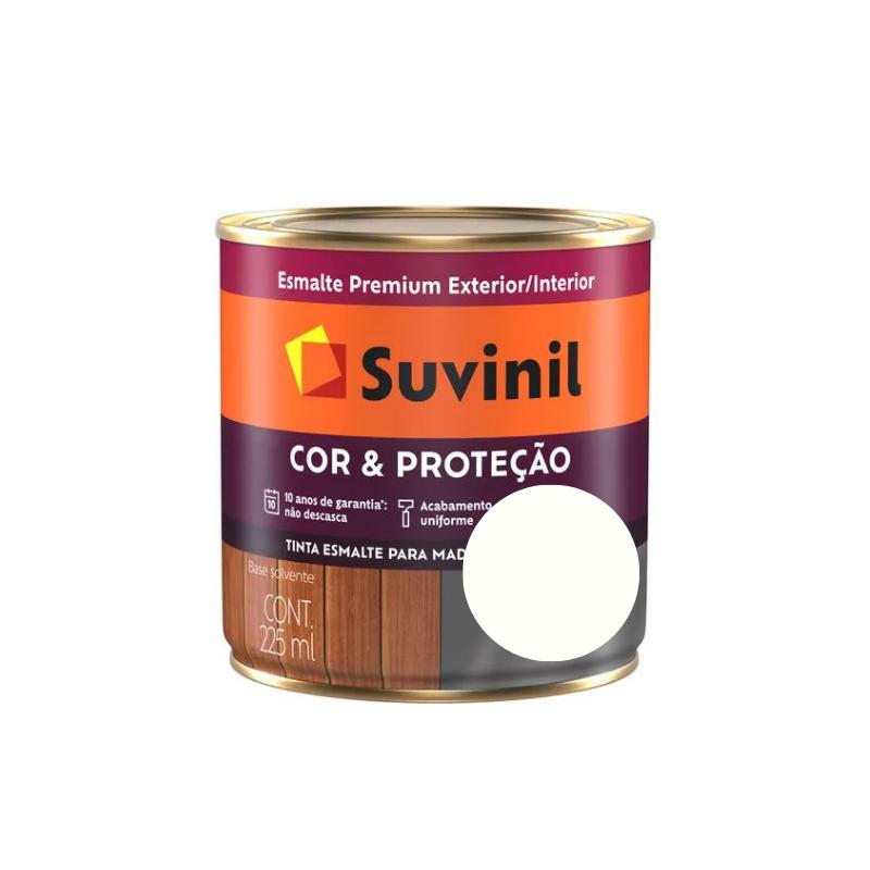 Tinta Esmalte Suvinil Cor & Proteção Brilhante Branco Neve 225ml  - Casa Mattos
