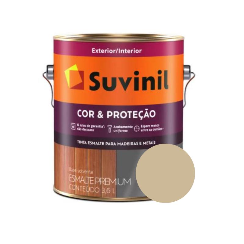 Tinta Esmalte Suvinil Cor & Proteção Brilhante Camurça Galão 3,6L  - Casa Mattos