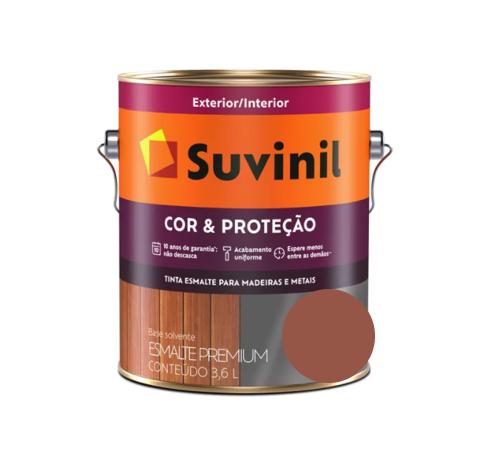 Tinta Esmalte Suvinil Cor e Proteção Brilhante Cerâmica Galão 3,6L