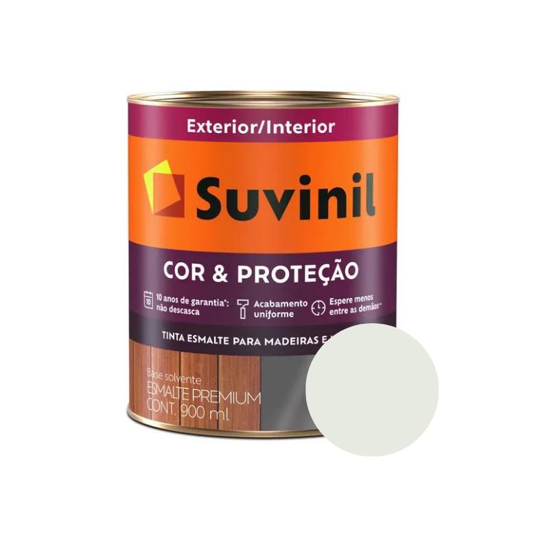 Tinta Esmalte Suvinil Cor & Proteção Brilhante Gelo 900ml