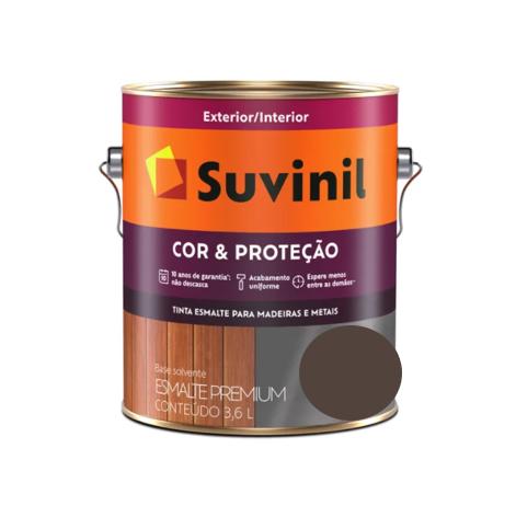 Tinta Esmalte Suvinil Cor & Proteção Brilhante Marrom 3,6L