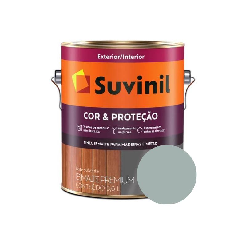 Tinta Esmalte Suvinil Cor & Proteção Cinza Médio Galão 3,6L