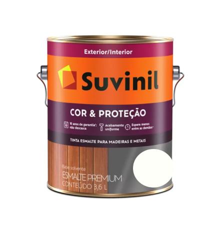 Tinta Esmalte Suvinil Cor & Proteção Fosco Branco Galão 3,6L