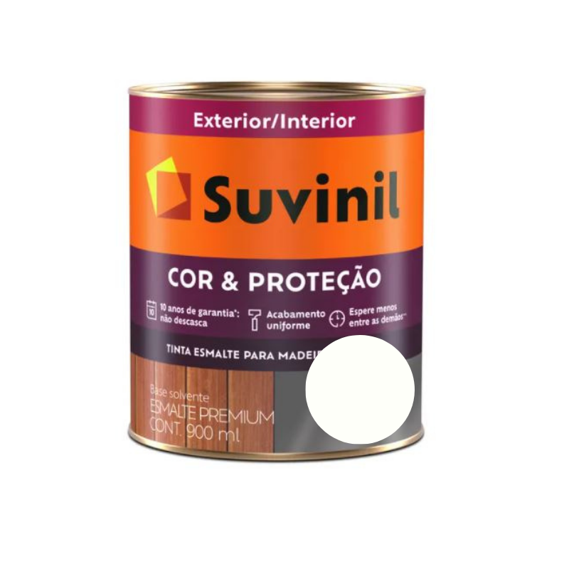 Tinta Esmalte Suvinil Cor & Proteção Fosco Branco Neve 900ml
