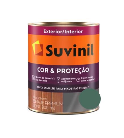 Tinta Esmalte Suvinil Cor & Proteção Fosco Verde Escolar Litro 900ml