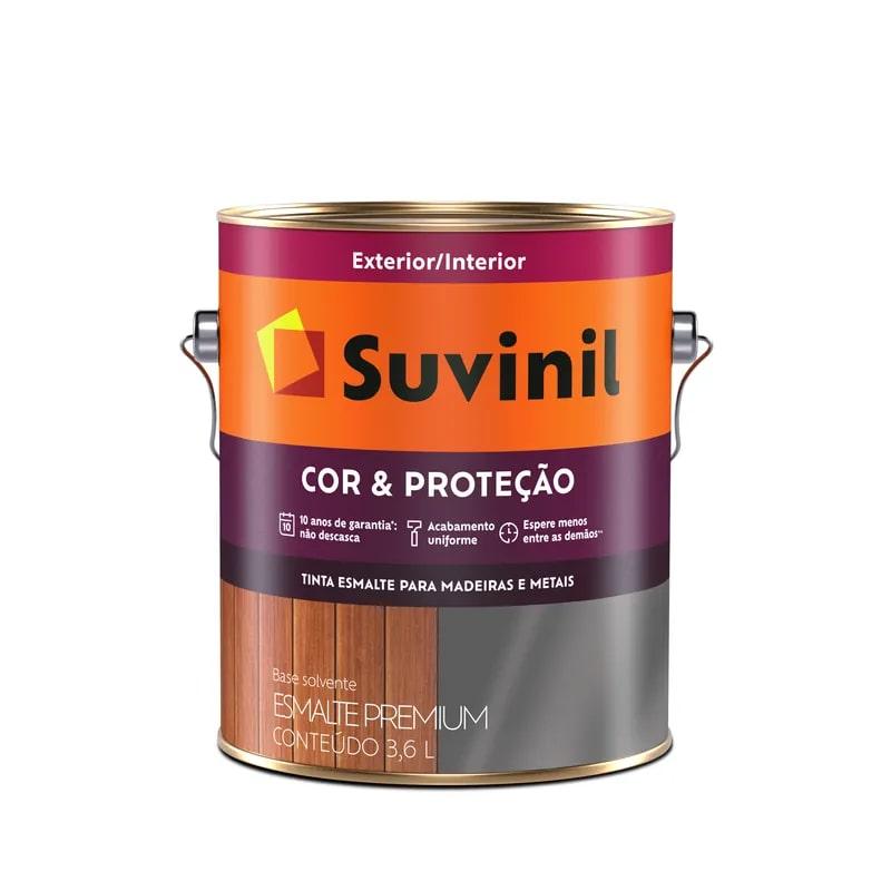 Tinta Esmalte Suvinil Cor & Proteção galão 3,6L Branco