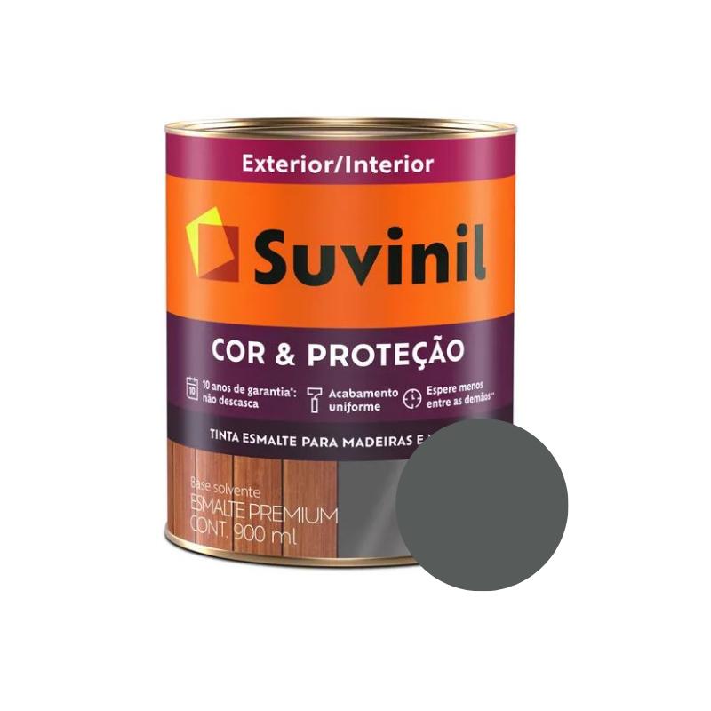 Tinta Esmalte Suvinil Cor & Proteção Grafite Escuro 900ml