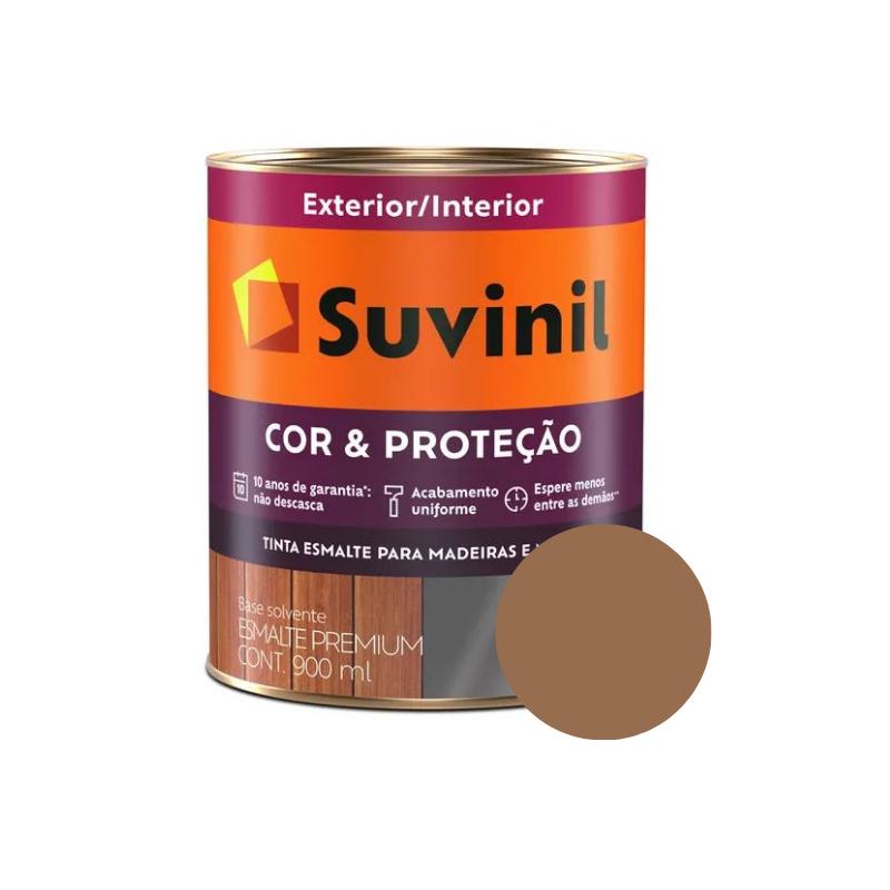 Tinta Esmalte Suvinil Cor & Proteção 900ml Cor Marrom-Conhaque
