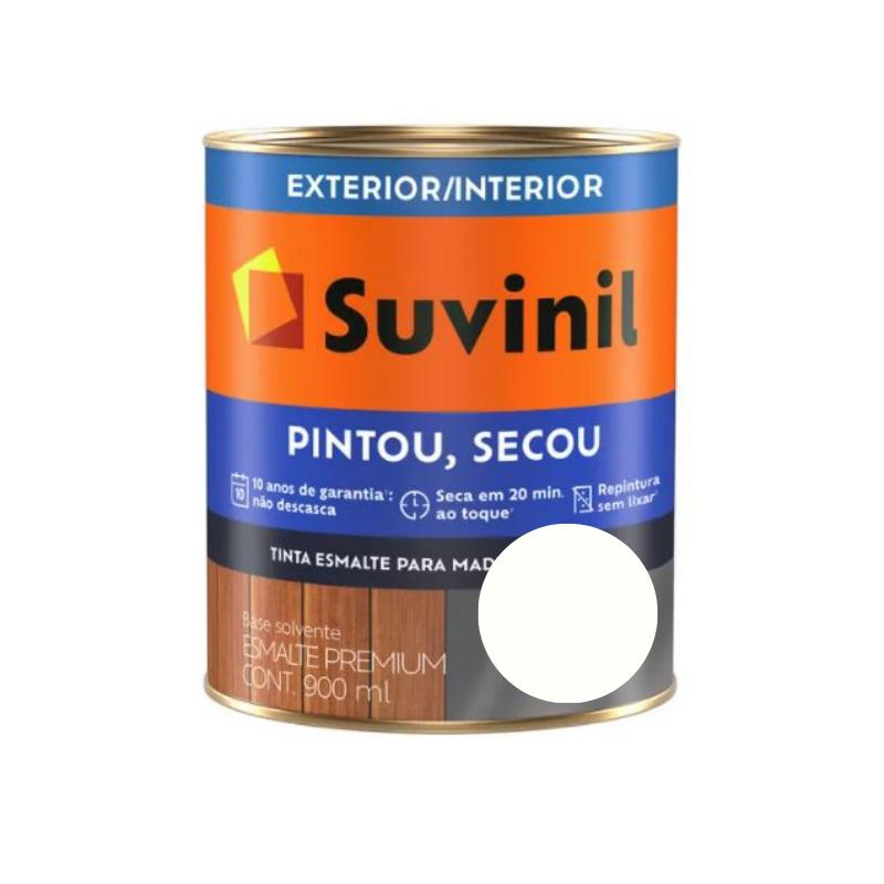 Tinta Esmalte Suvinil Pintou Secou Brilhante Branco Neve 900ml