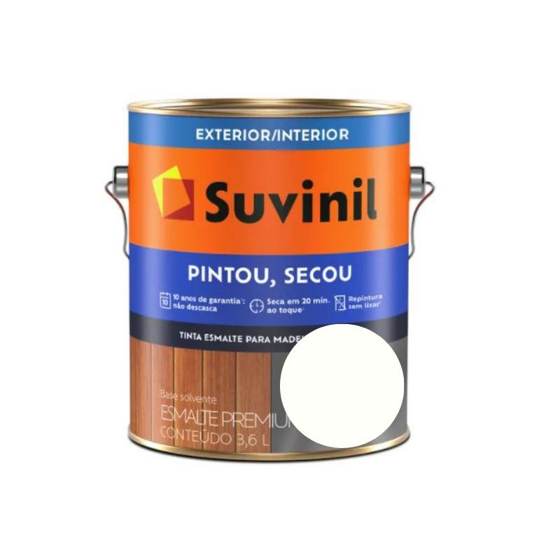 Tinta Esmalte Suvinil Pintou Secou Brilhante Branco Neve Galão 3,6L