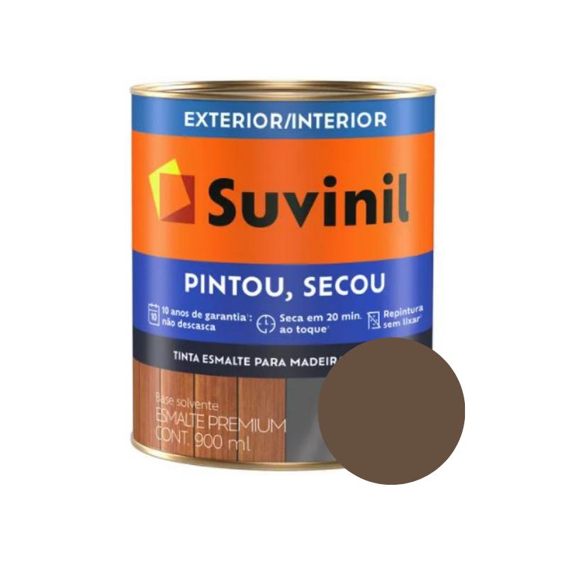 Tinta Esmalte Suvinil Pintou Secou Brilhante Tabaco 900ml