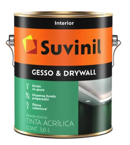 Tinta para Gesso e Drywall Suvinil Galão 3,6L  - Casa Mattos