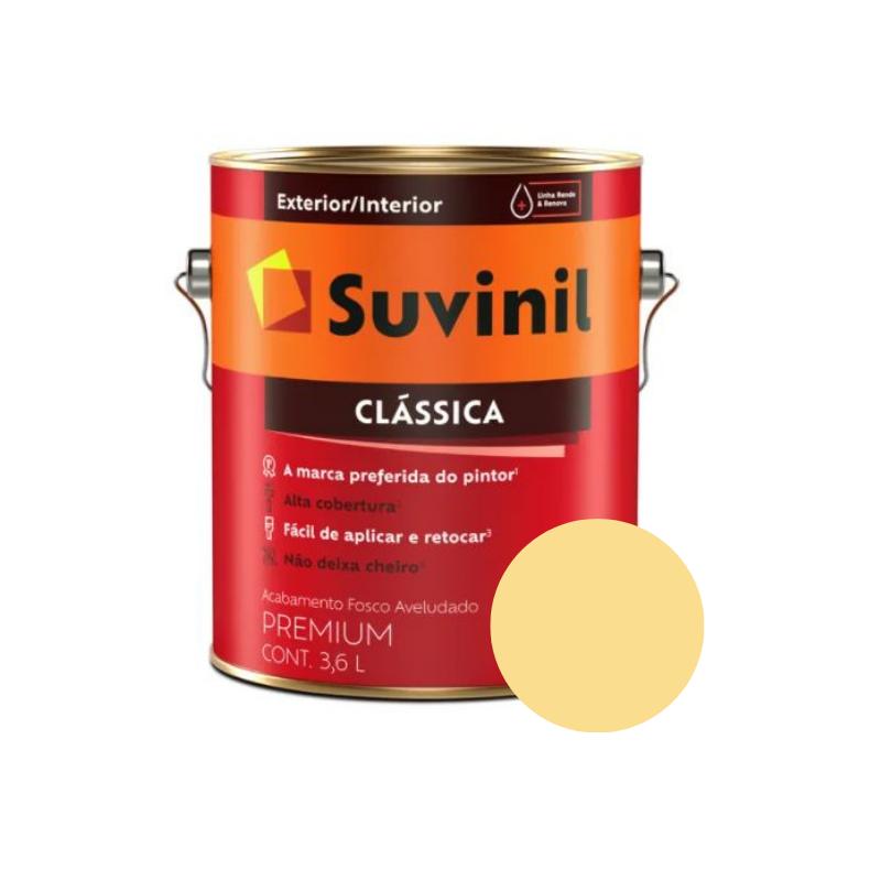 Tinta Suvinil Clássica Amarelo Canário Galão 3,2L