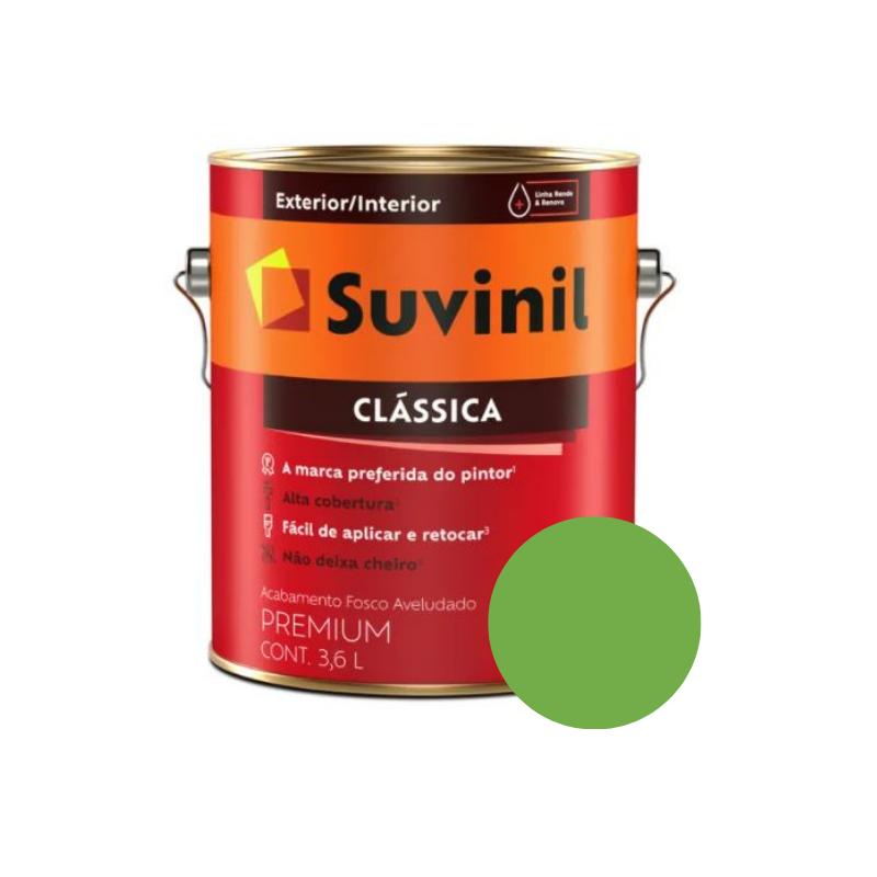 Tinta Suvinil Clássica Capim-Limão Galão 3,6L  - Casa Mattos