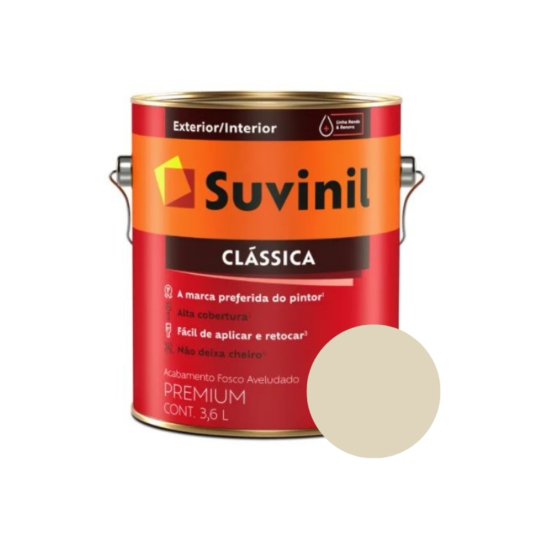 Tinta Suvinil Clássica Palha Galão 3,6L