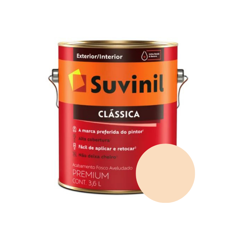 Tinta Suvinil Clássica Pérola Galão 3,6L