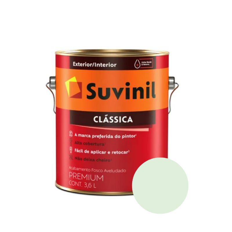 Tinta Suvinil Clássica Verde-Água Galão 3,6L