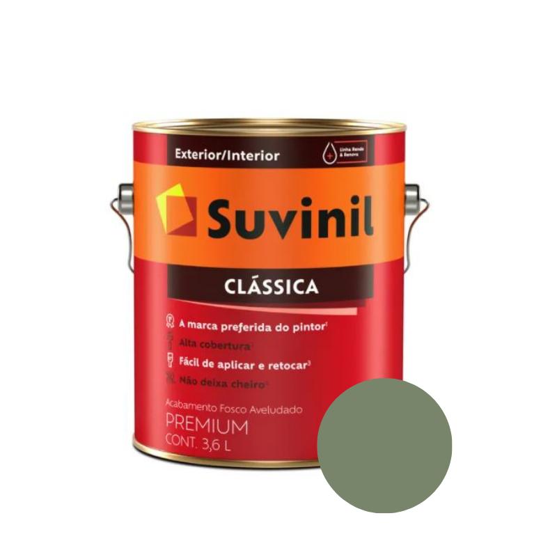 Tinta Suvinil Clássica Verde Musgo Galão 3,6L