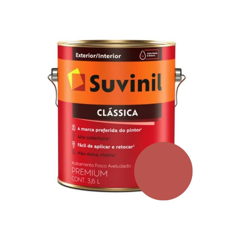 Tinta Suvinil Clássica Vermelho Cardinal Galão 3,6L  - Casa Mattos