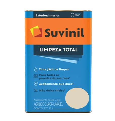 Tinta Suvinil Limpeza Total Palha Latão 18L  - Casa Mattos