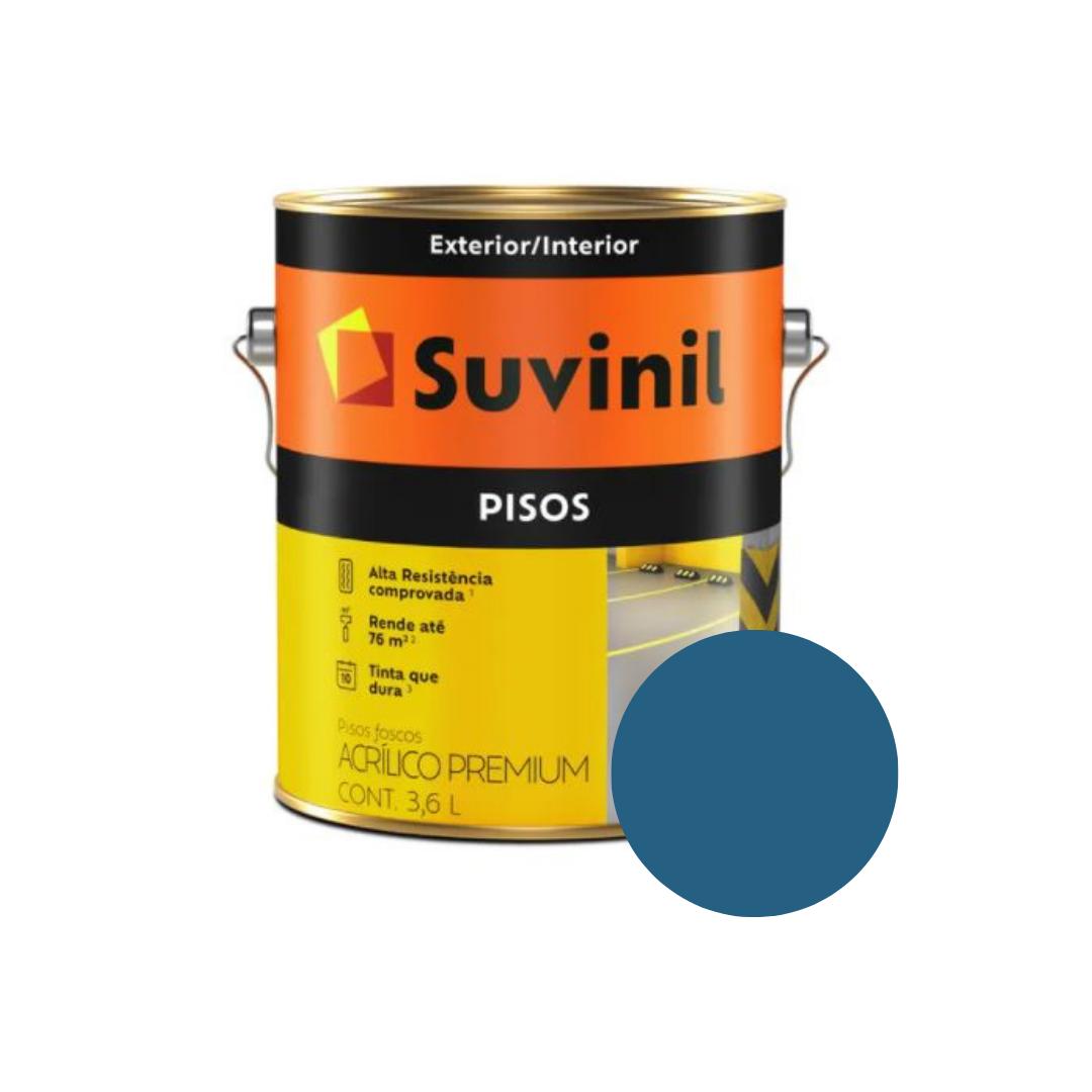 Tinta Suvinil Pisos Azul Galão 3,6L