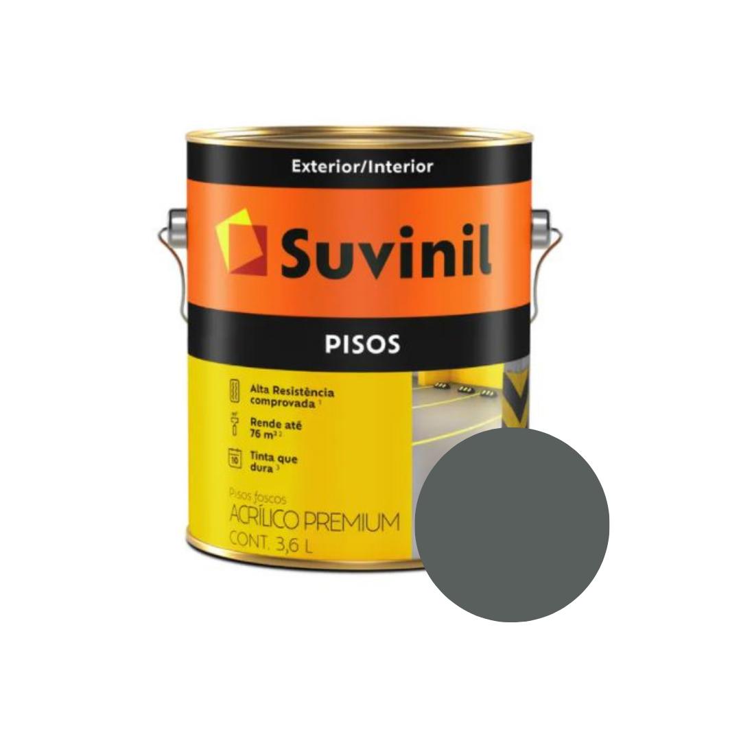 Tinta Suvinil Pisos Cinza Escuro Galão 3,6L