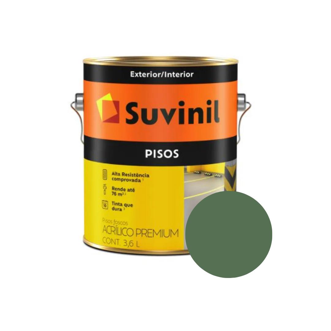 Tinta Suvinil Pisos Verde Galão 3,6L