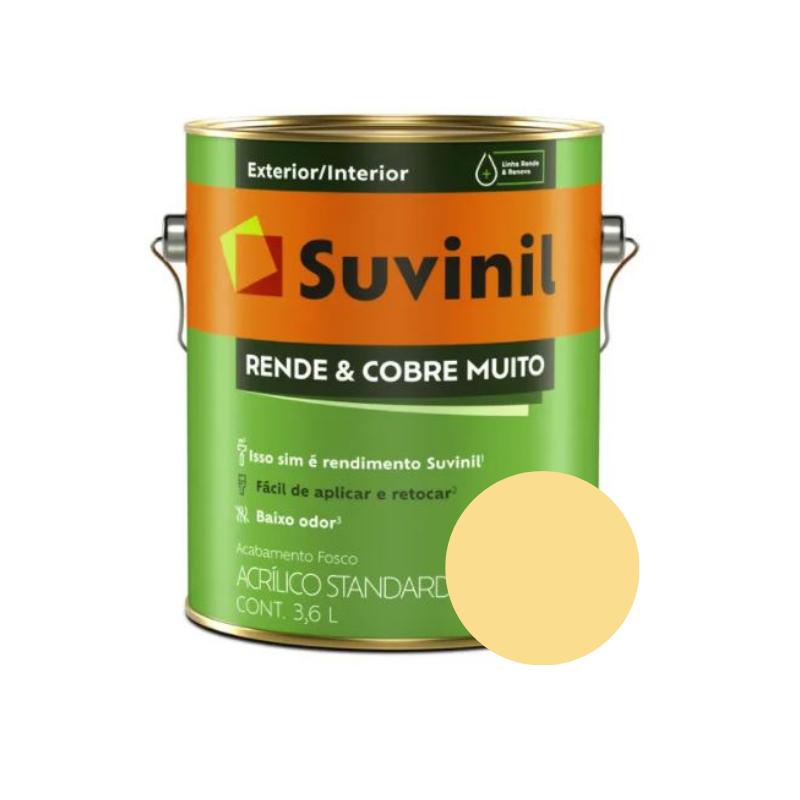 Tinta Suvinil Rende & Cobre Muito Amarelo Canário Galão 3,6L