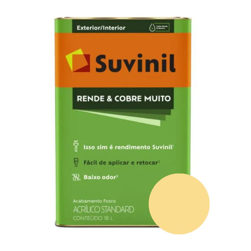 Tinta Suvinil Rende & Cobre Muito Amarelo Canário Latão 18L