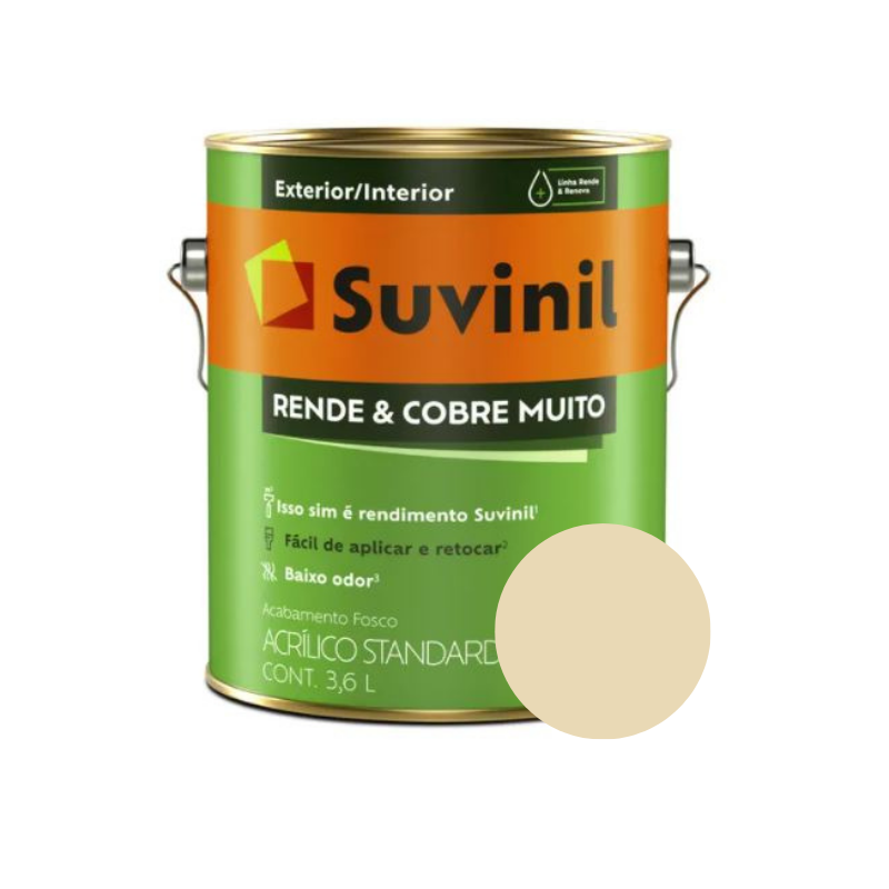 Tinta Suvinil Rende & Cobre Muito Marfim Galão 3,6L