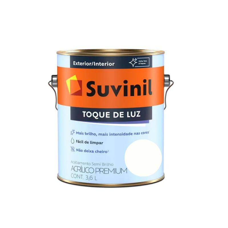 Tinta Suvinil Toque de Luz Acrílico Branco Neve Galão 3,6L