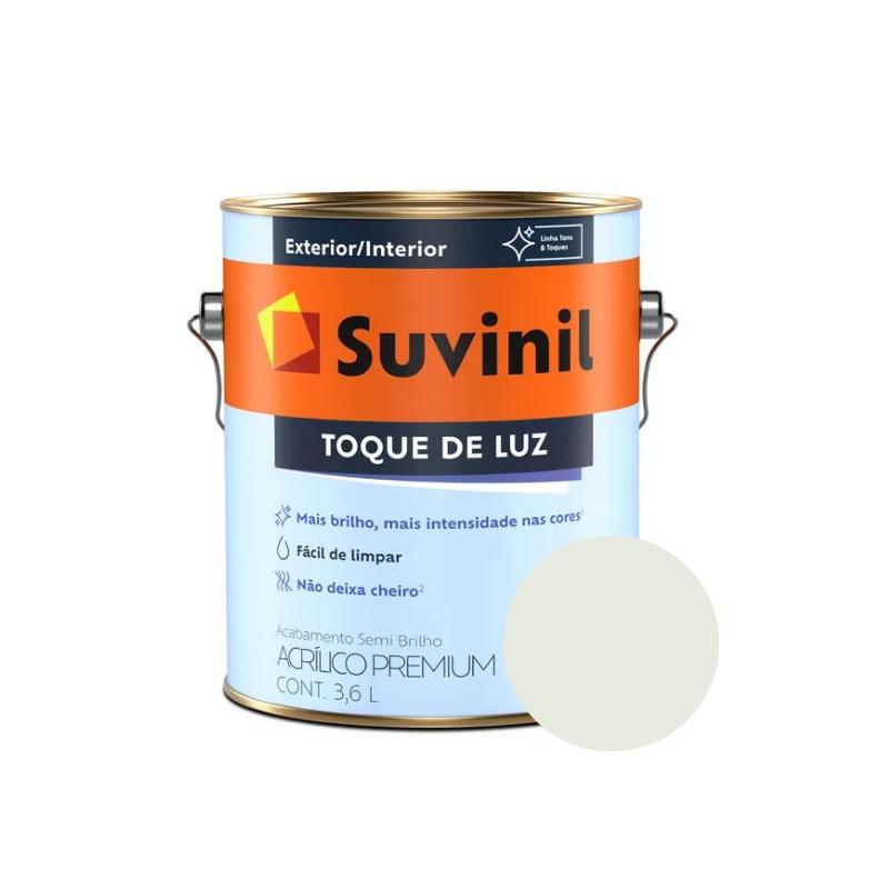 Tinta Suvinil Toque de Luz Acrílico Gelo Galão 3,6L