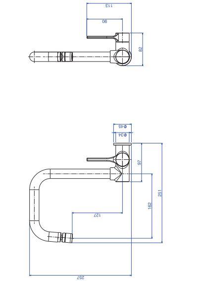 Torneira de Parede Deca Star 1168.C11 para Cozinha Cromado  - Casa Mattos