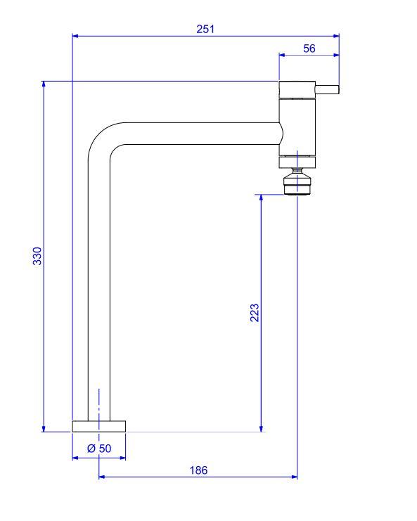 Torneira  Deca De Mesa  Link Para Cozinha 1166.C.LNK Cromada  - Casa Mattos