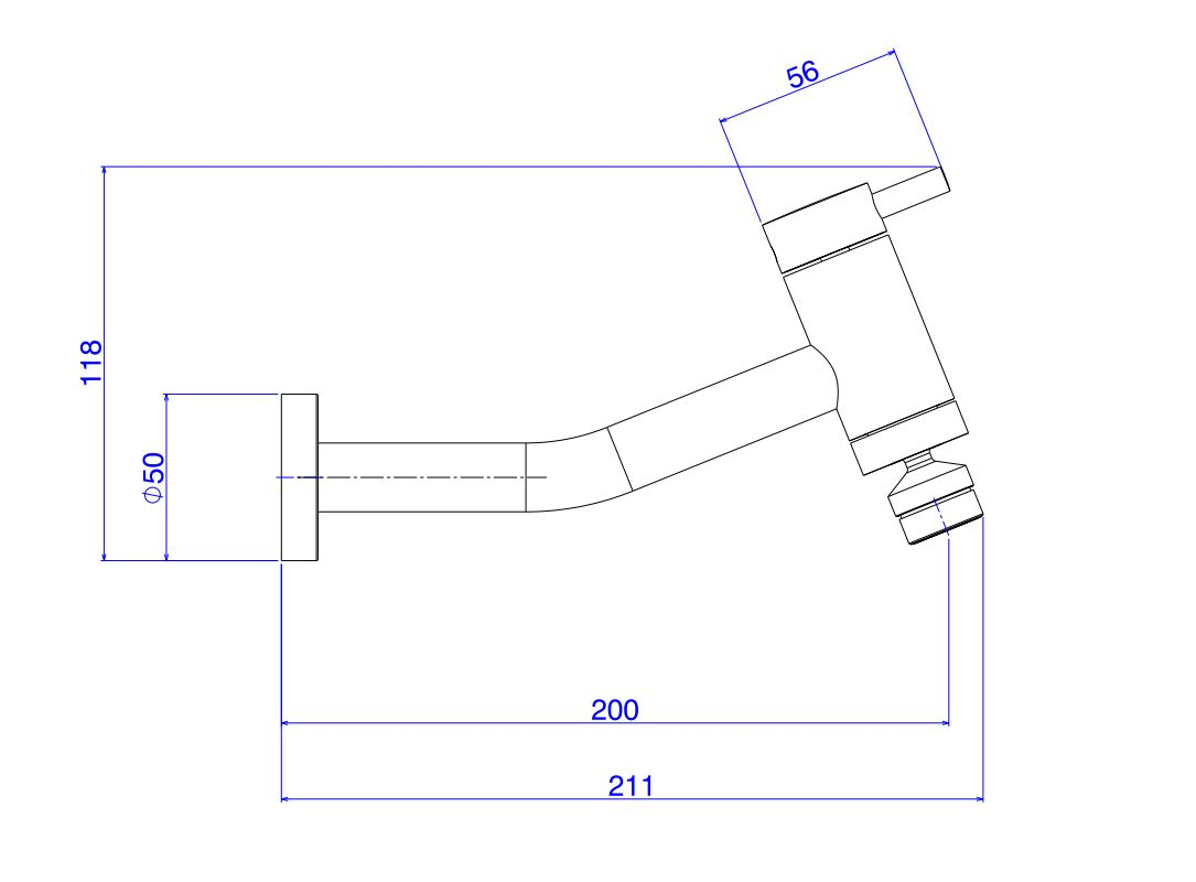 Torneira Deca De Parede Link Para Cozinha 1159.C.LNK Cromada  - Casa Mattos