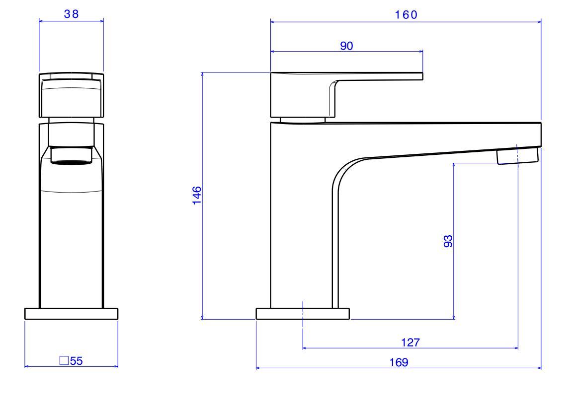 Torneira Deca Level para Lavatório de Mesa Bica Baixa 1197.C26 Cromado  - Casa Mattos