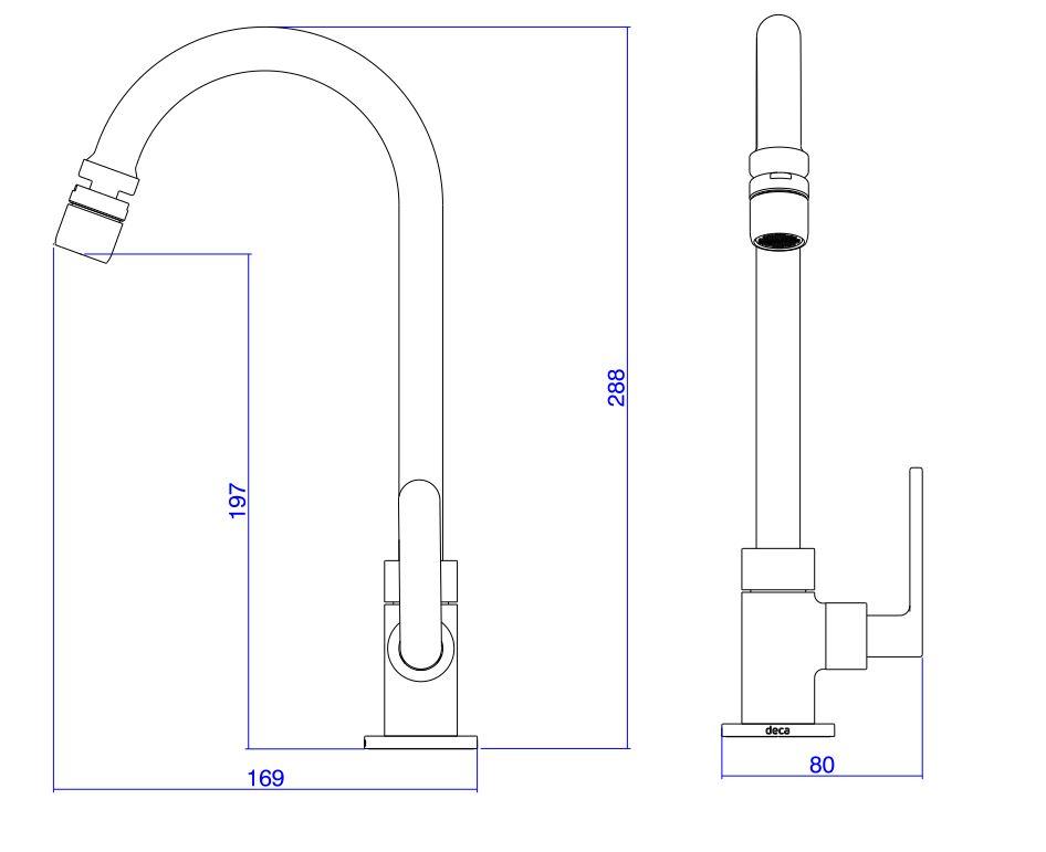 Torneira Deca Para Cozinha Flex Plus 1167.C21.CLM Cromado  - Casa Mattos