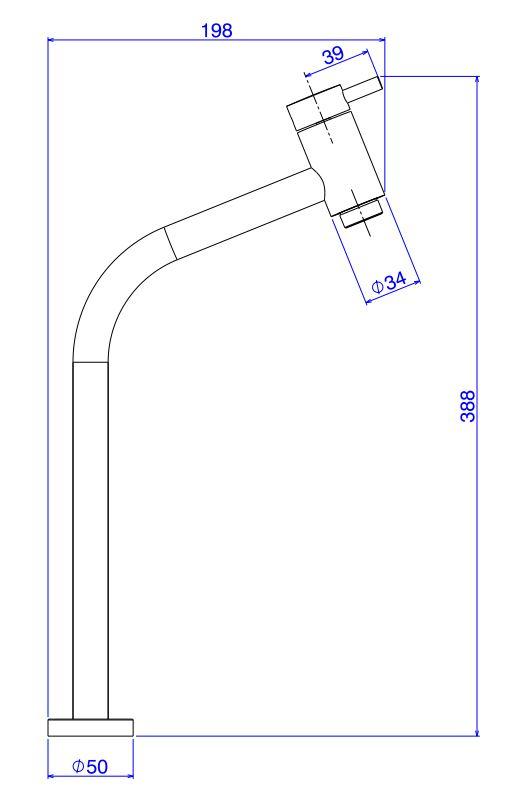 Torneira Deca Para Lavatório Link de Mesa Bica Alta 1198.C.LNK Cromada  - Casa Mattos