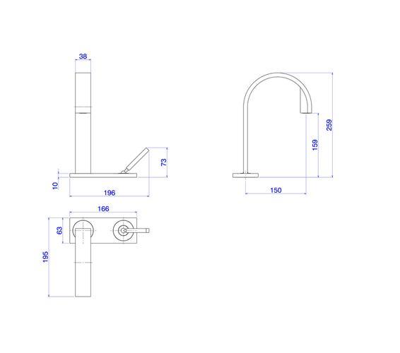 Torneira Deca Stick para Lavatório Bica Alta 1191.C84 Cromado  - Casa Mattos