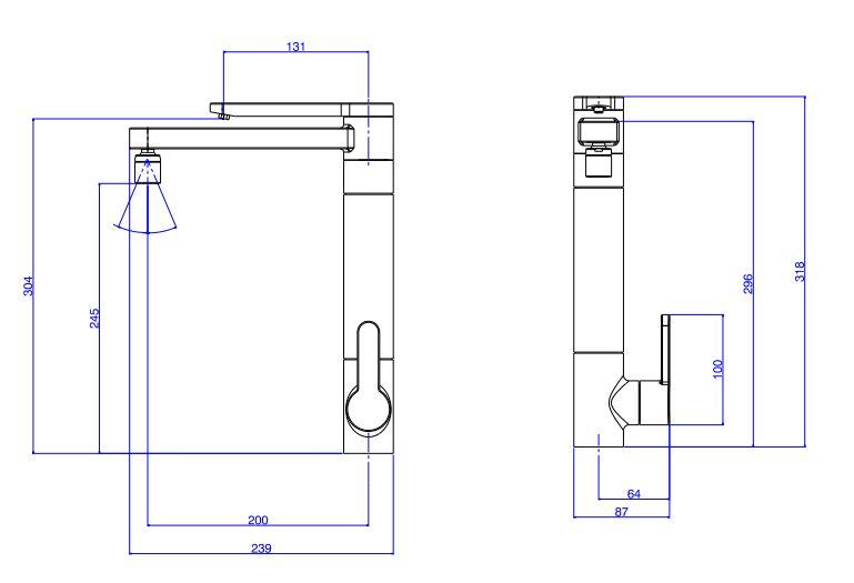 Torneira Deca Twin com Filtro de Mesa para Cozinha 1140.GL.RD Red Gold  - Casa Mattos
