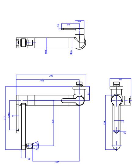 Torneira Deca Twin de Parede com Filtro para Cozinha 1148.C Cromado  - Casa Mattos