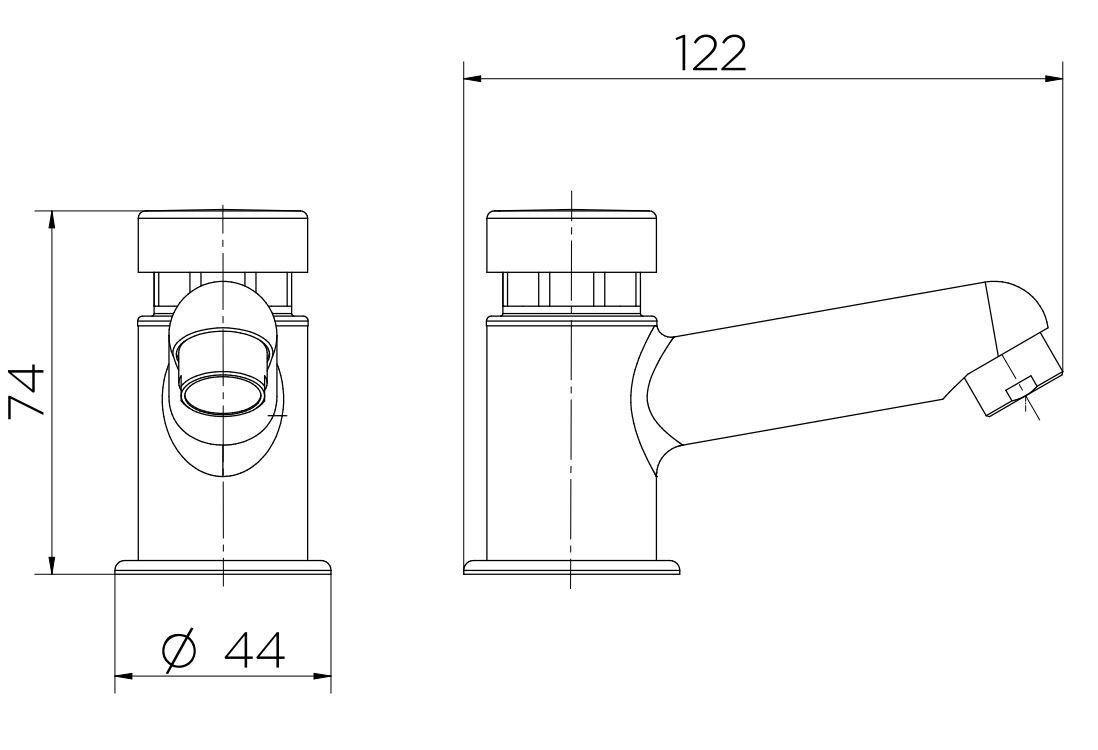 Torneira Docol  Para Lavatório Compact Pressmatic De Mesa 17160606  Cromado  - Casa Mattos