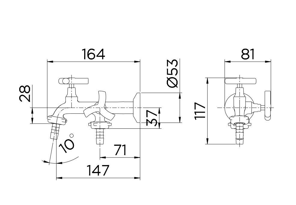 Torneira Docol para tanque/máquina 1134 Primor 00672906 Cromado  - Casa Mattos